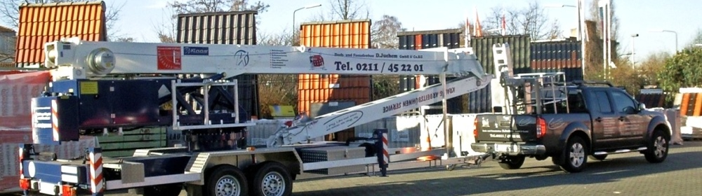 Dach- und Fassadenbau D. Juchem GmbH & Co. KG | 40474 Düsseldorf | Bedachungen | Schiefer | Terrassen | Balkon | Sanierung | Bauklempnerei | Schall & Wärmeschutz | 24 Std Reparatur Service